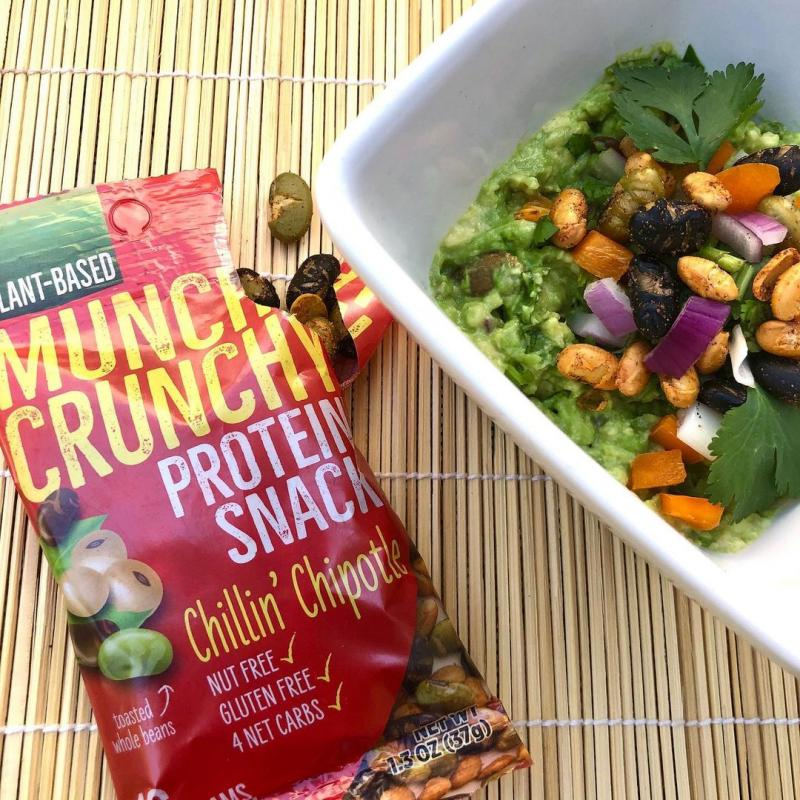 Simply drop on any salad, soup, stir fry to add protein, flavor & crunch!